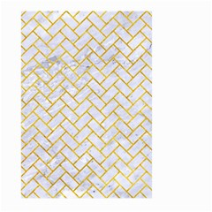 Brick2 White Marble & Yellow Marble (r) Large Garden Flag (two Sides) by trendistuff