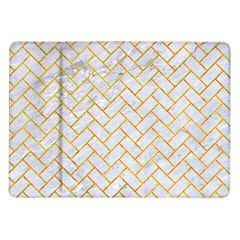 Brick2 White Marble & Yellow Marble (r) Samsung Galaxy Tab 10 1  P7500 Flip Case by trendistuff