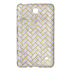 Brick2 White Marble & Yellow Marble (r) Samsung Galaxy Tab 4 (7 ) Hardshell Case  by trendistuff