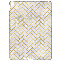 Brick2 White Marble & Yellow Marble (r) Apple Ipad Pro 12 9   Hardshell Case by trendistuff