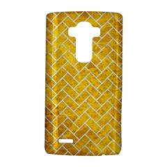 Brick2 White Marble & Yellow Marble Lg G4 Hardshell Case by trendistuff