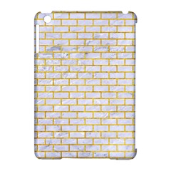 Brick1 White Marble & Yellow Marble (r) Apple Ipad Mini Hardshell Case (compatible With Smart Cover) by trendistuff