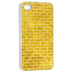 Brick1 White Marble & Yellow Marble Apple Iphone 4/4s Seamless Case (white) by trendistuff
