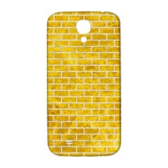 Brick1 White Marble & Yellow Marble Samsung Galaxy S4 I9500/i9505  Hardshell Back Case by trendistuff