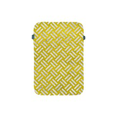 Woven2 White Marble & Yellow Leather Apple Ipad Mini Protective Soft Cases by trendistuff