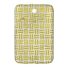 Woven1 White Marble & Yellow Leather (r) Samsung Galaxy Note 8 0 N5100 Hardshell Case  by trendistuff