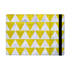 Triangle2 White Marble & Yellow Leather Ipad Mini 2 Flip Cases by trendistuff