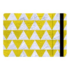 Triangle2 White Marble & Yellow Leather Apple Ipad Pro 10 5   Flip Case