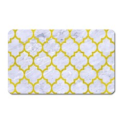 Tile1 White Marble & Yellow Leather (r) Magnet (rectangular) by trendistuff