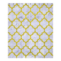 Tile1 White Marble & Yellow Leather (r) Shower Curtain 60  X 72  (medium)  by trendistuff