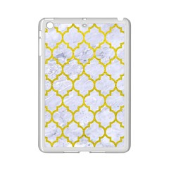 Tile1 White Marble & Yellow Leather (r) Ipad Mini 2 Enamel Coated Cases by trendistuff