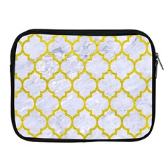 Tile1 White Marble & Yellow Leather (r) Apple Ipad 2/3/4 Zipper Cases by trendistuff