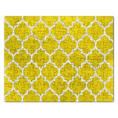 Tile1 White Marble & Yellow Leather Rectangular Jigsaw Puzzl