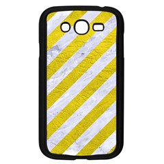 Stripes3 White Marble & Yellow Leather (r)stripes3 White Marble & Yellow Leather (r) Samsung Galaxy Grand Duos I9082 Case (black) by trendistuff