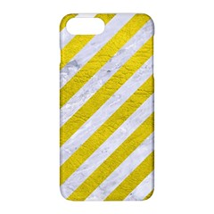 Stripes3 White Marble & Yellow Leather (r)stripes3 White Marble & Yellow Leather (r) Apple Iphone 8 Plus Hardshell Case by trendistuff