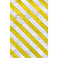 Stripes3 White Marble & Yellow Leather 5 5  X 8 5  Notebooks by trendistuff