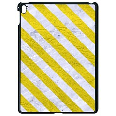 Stripes3 White Marble & Yellow Leather Apple Ipad Pro 9 7   Black Seamless Case by trendistuff