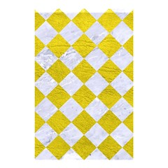 Square2 White Marble & Yellow Leather Shower Curtain 48  X 72  (small)  by trendistuff