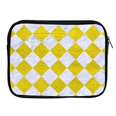 Square2 White Marble & Yellow Leather Apple Ipad 2/3/4 Zipper Cases by trendistuff