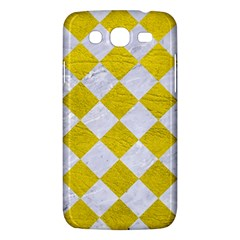 Square2 White Marble & Yellow Leather Samsung Galaxy Mega 5 8 I9152 Hardshell Case  by trendistuff