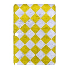 Square2 White Marble & Yellow Leather Samsung Galaxy Tab Pro 12 2 Hardshell Case by trendistuff