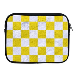 Square1 White Marble & Yellow Leather Apple Ipad 2/3/4 Zipper Cases by trendistuff