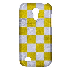Square1 White Marble & Yellow Leather Galaxy S4 Mini by trendistuff