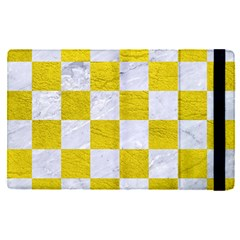 Square1 White Marble & Yellow Leather Apple Ipad Pro 9 7   Flip Case