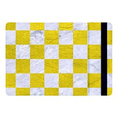 Square1 White Marble & Yellow Leather Apple Ipad Pro 10 5   Flip Case
