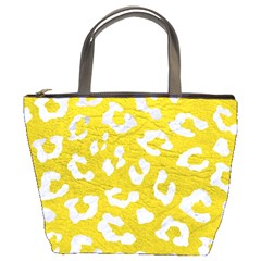 Skin5 White Marble & Yellow Leather (r) Bucket Bags by trendistuff