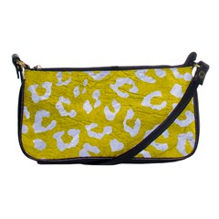 Skin5 White Marble & Yellow Leather (r) Shoulder Clutch Bags by trendistuff