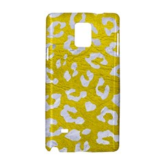 Skin5 White Marble & Yellow Leather (r) Samsung Galaxy Note 4 Hardshell Case by trendistuff