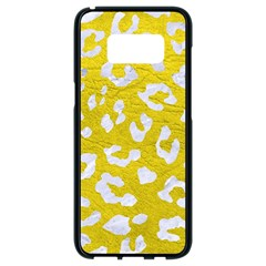 Skin5 White Marble & Yellow Leather (r) Samsung Galaxy S8 Black Seamless Case