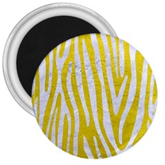Skin4 White Marble & Yellow Leather (r) 3  Magnets by trendistuff