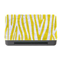 Skin4 White Marble & Yellow Leather (r) Memory Card Reader With Cf by trendistuff