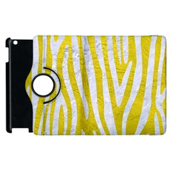 Skin4 White Marble & Yellow Leather (r) Apple Ipad 2 Flip 360 Case by trendistuff