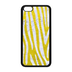 Skin4 White Marble & Yellow Leather (r) Apple Iphone 5c Seamless Case (black) by trendistuff