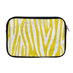 Skin4 White Marble & Yellow Leather (r) Apple Macbook Pro 17  Zipper Case by trendistuff