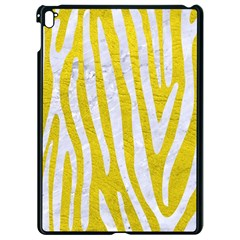 Skin4 White Marble & Yellow Leather (r) Apple Ipad Pro 9 7   Black Seamless Case