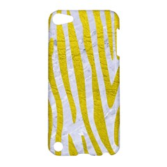 Skin4 White Marble & Yellow Leatherskin4 White Marble & Yellow Leather Apple Ipod Touch 5 Hardshell Case by trendistuff