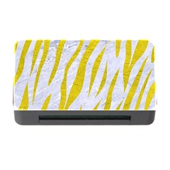 Skin3 White Marble & Yellow Leather (r)skin3 White Marble & Yellow Leather (r) Memory Card Reader With Cf by trendistuff