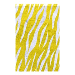 Skin3 White Marble & Yellow Leather Shower Curtain 48  X 72  (small)  by trendistuff