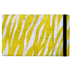 Skin3 White Marble & Yellow Leather Apple Ipad 3/4 Flip Case by trendistuff