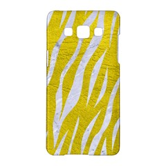 Skin3 White Marble & Yellow Leather Samsung Galaxy A5 Hardshell Case  by trendistuff