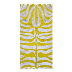 Skin2 White Marble & Yellow Leather (r) Shower Curtain 36  X 72  (stall)  by trendistuff