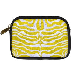 Skin2 White Marble & Yellow Leather Digital Camera Cases by trendistuff