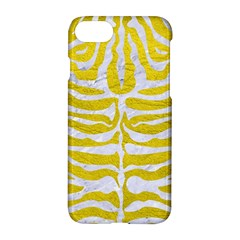 Skin2 White Marble & Yellow Leather Apple Iphone 7 Hardshell Case by trendistuff