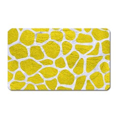 Skin1 White Marble & Yellow Leather (r) Magnet (rectangular) by trendistuff