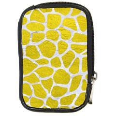 Skin1 White Marble & Yellow Leather (r) Compact Camera Cases by trendistuff