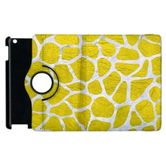 Skin1 White Marble & Yellow Leather (r) Apple Ipad 2 Flip 360 Case by trendistuff